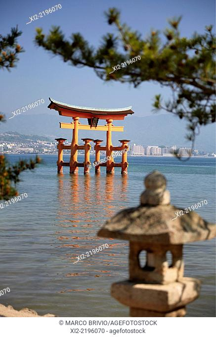 Itsukushima Shrine is a Shinto shrine on the island of Itsukushima popularly known as Miyajima, best known for its 'floating' torii gate