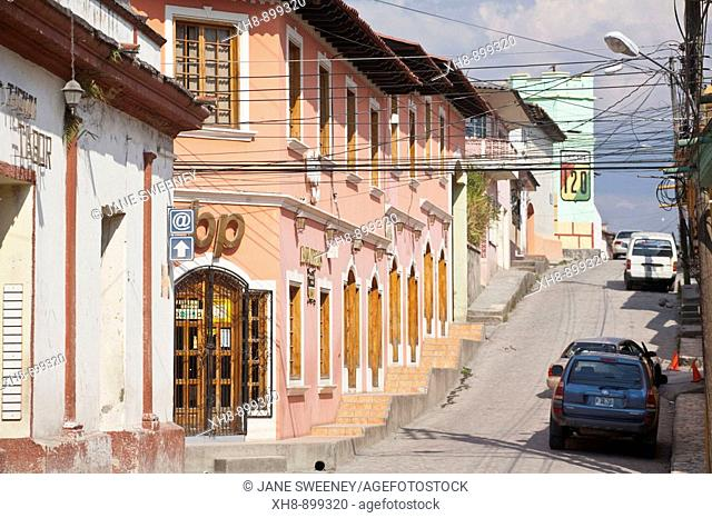 Shopping plaza, historic town center, Santa Rosa de Copan, Copan, Honduras