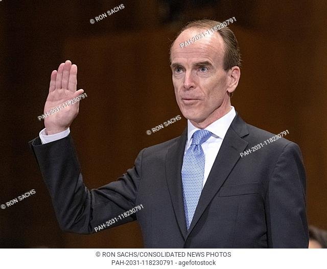 Daniel P. Collins is sworn-in to testify before the United States Senate Committee on the Judiciary on his nomination to be United States Circuit Judge For The...