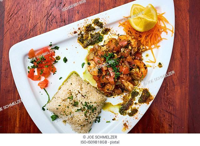Light seafood dish