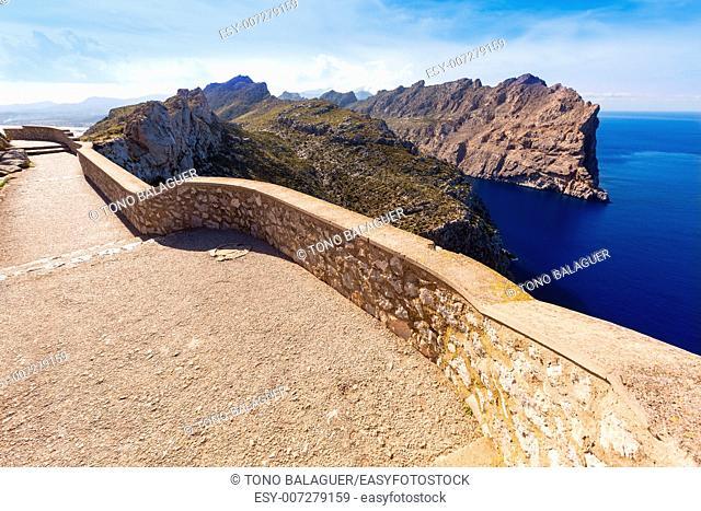 Majorca mirador Formentor Cape in Mallorca island of spain