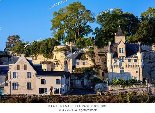 The Village of Souzay-Champigny with Vignole Castle, known as the last staying place of Margaret of Anjou. Saumur District, Maine-et-Loire