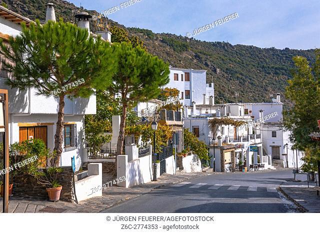 road in the village Bubión, Sierra Nevada, Andalusia, Spain