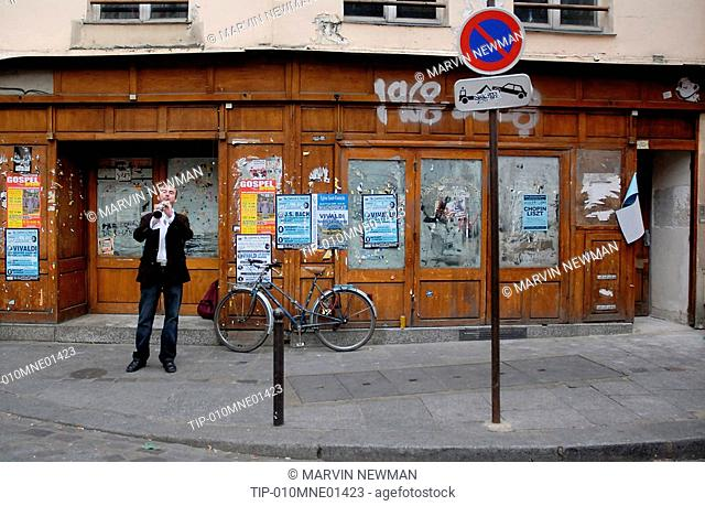 Paris, France, street musician in Latin Quarter