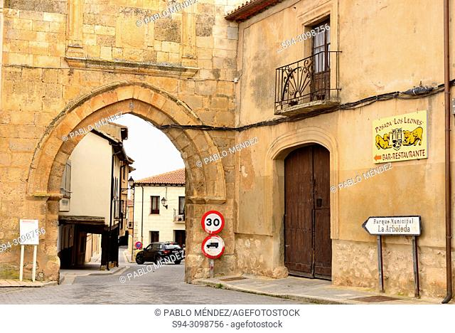 Entrance to the Old Town of Berlanga de Duero, Soria, Spain