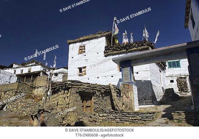 Ancient Jharkot village below Muktinath, Upper Mustang, Nepal