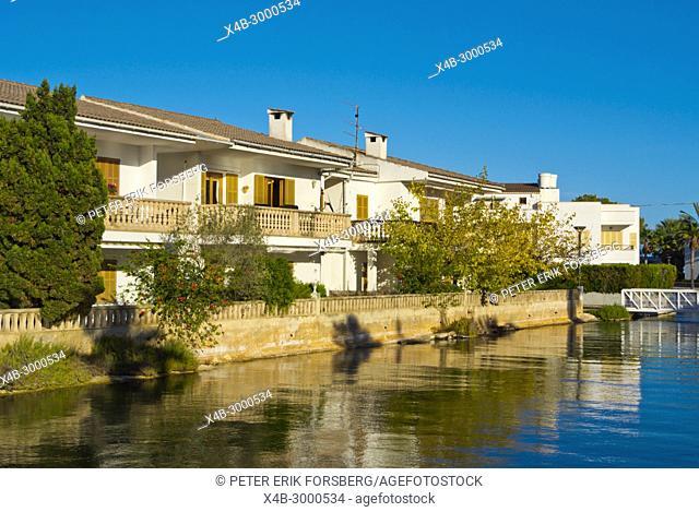 Canal Nou, Platja de Alcudia, Mallorca, Balearic islands, Spain