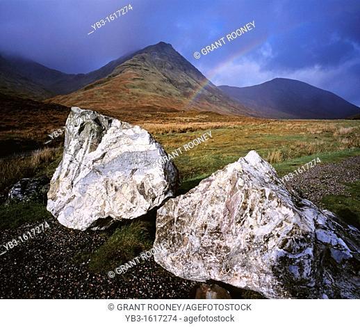 Isle of Skye landscape with rainbow, Isle of Skye, Scotland