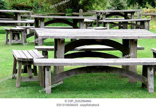 Garden picnic tables