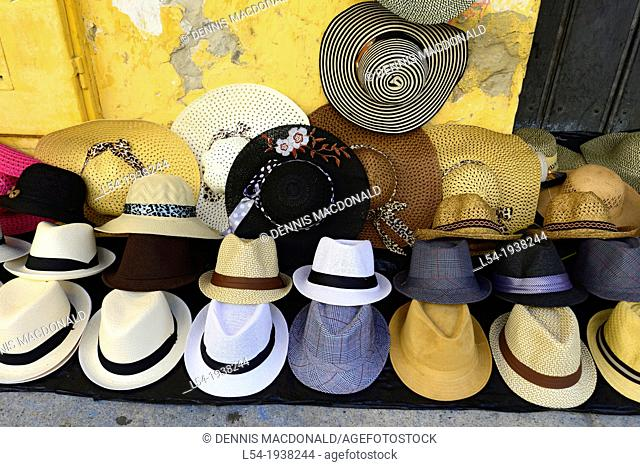 Hat Display Old City Cartagena Colombia SA South America Caribbean