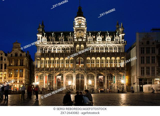 The Maison du Roi in Brussels, Belgium. Grand Place, Bruxelles. Maison du Roi, one of Europe finest historic squares and a â. œmust-seeâ