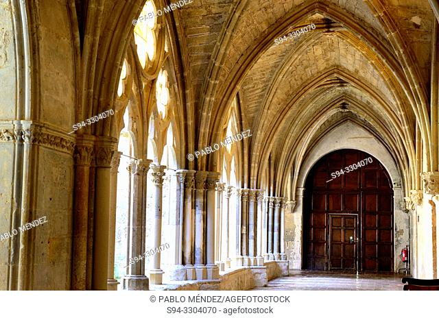 Cloisters of the Monastery of La Veruela, Vera del Moncayo, Zaragoza, Spain. Cistercian abbey