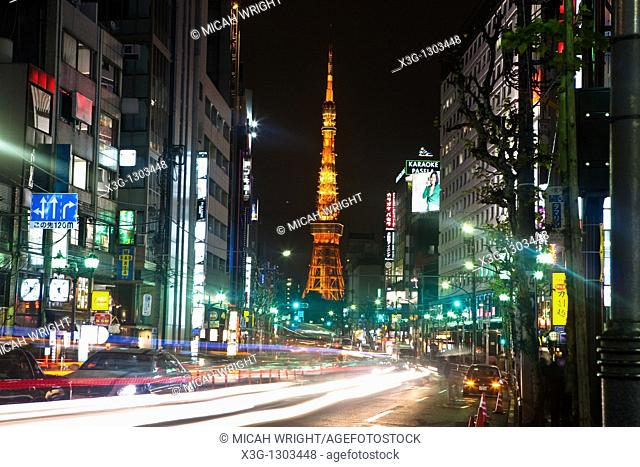 Tokyo Tower is a communications and observation tower located in Shiba Park, Minato, Tokyo, Japan. At 332 5 metres 1, 091 ft