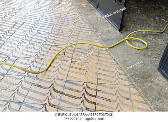 hose on the floor