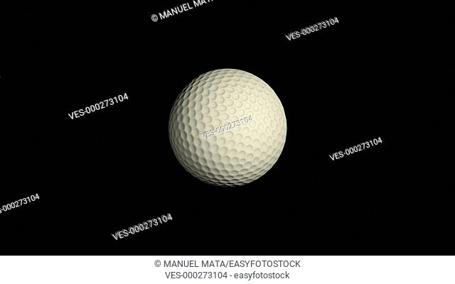 Golf ball totating loop, 3d object