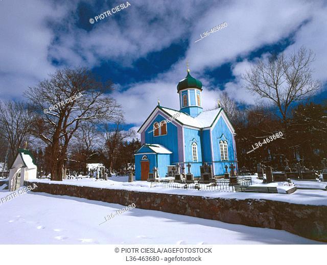 Bocki, orthodox cementery chapel. Podlasie region Eastern Poland