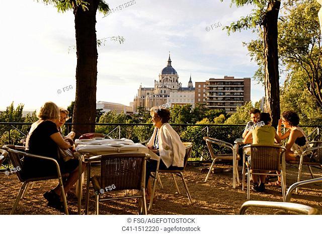Terrace at Las Vistillas, Madrid, Spain