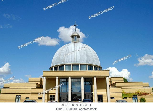 England, Buckinghamshire, Milton Keynes, The front of the Ecumenical Church of Christ the Cornerstone