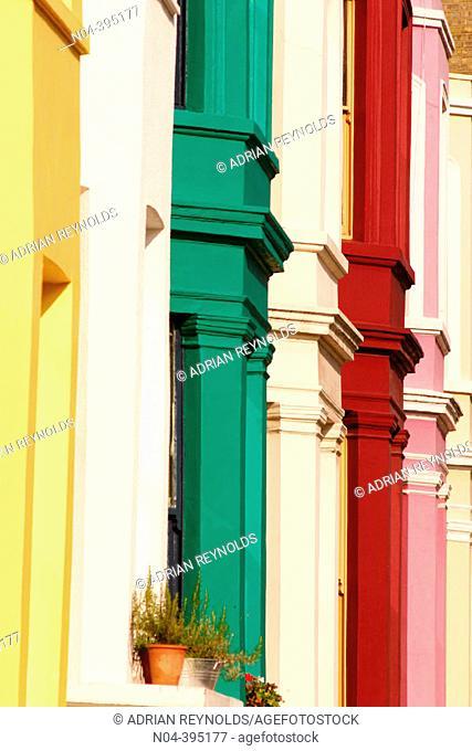 Row houses at Portobello Road. London. England