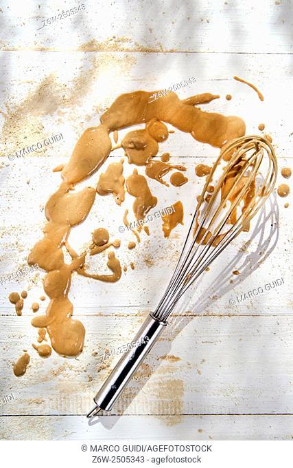 Splash of cream made from chestnut flour