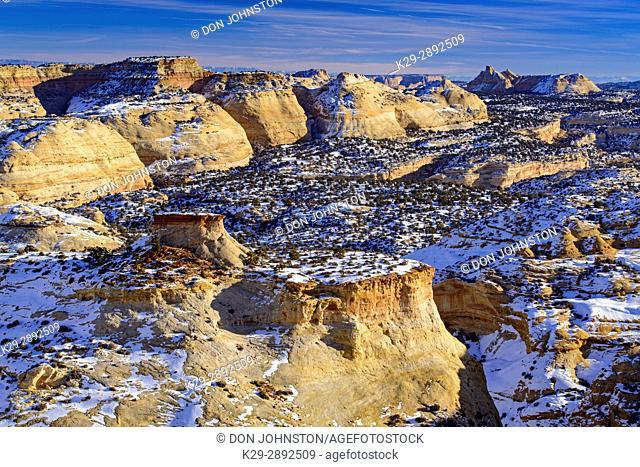 Eagle Canyon in the San Rafael Swell, Eagle Canyon Viewpoint on I 70, Utah, USA