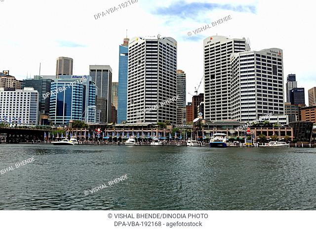 skylines darlington harbour sydney australia