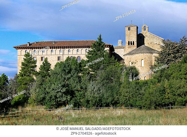 View of the monastery of Leyre, Navarra