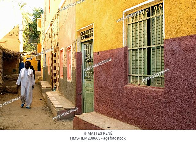 Egypt, Upper Egypt, Nubia, Nile Valley, Elephantine Island, Nubian village