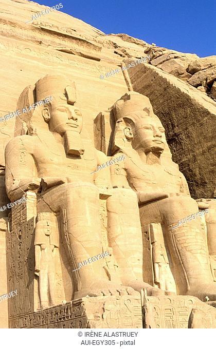Egypte - La Basse Nubie - Abou Simbel - Le grand temple de Ramses II