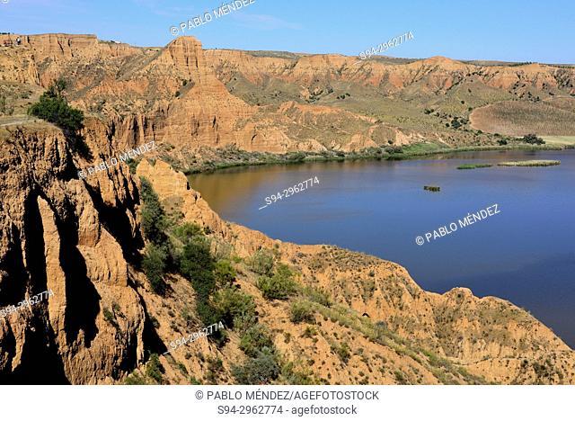 Natural monument of Barrancas del Burujon, Toledo province, Spain