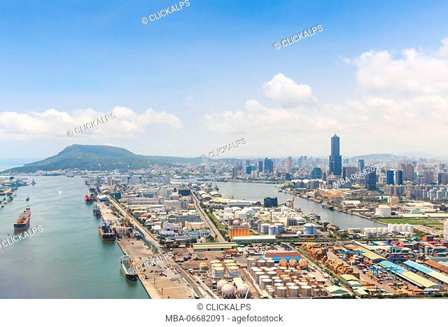 Aerial view of Kaohsiung in southern Taiwan