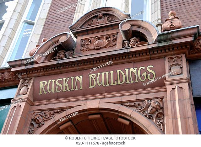 Ruskin Buildings, Corporation Street, Birmingham, West Midlands, England