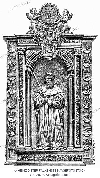 Epitaph of Frederick III or Frederick the Wise, 1463 - 1525, Elector of Saxony