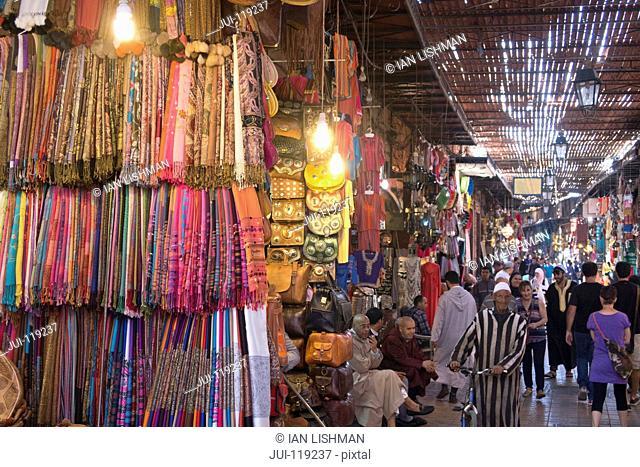 The Souk market in Marrakech