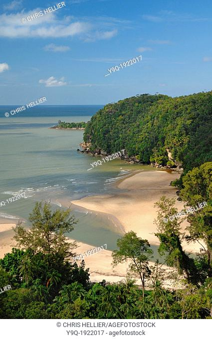 Telok Pandan Basar Beach Rain Forest and Coast Bako National Park Sarawak Borneo Malaysia