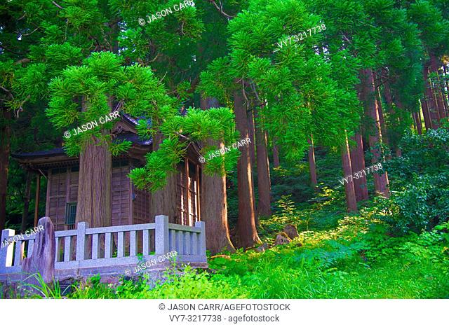 Shrine in Toyama, Japan. Japan is a country located in the East Asia