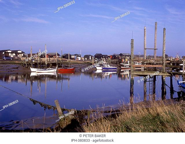 View of Southwold harbour on the River Blyth from Walberswick