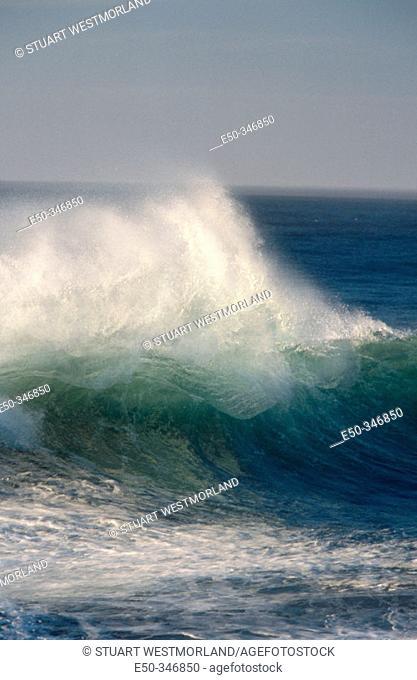 Wave breaks. Cape Kiwanda State Park, Oregon coast. USA