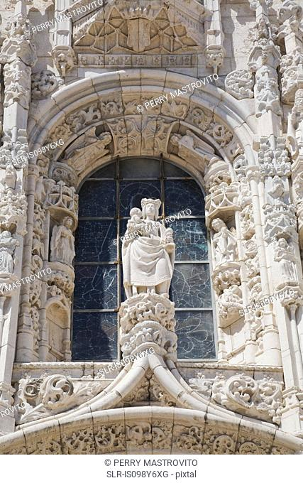 Detail of Jeronimos Monastery, Lisbon, Portugal