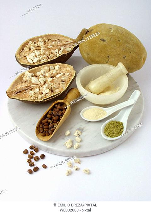 Baobab fruits and products