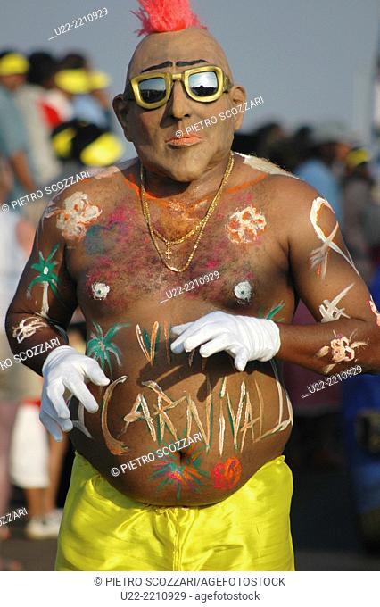 Panjim, Goa, India: man at the Carnival