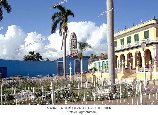 Palacio Brunet (right), Main Square, Trinidad, Cuba