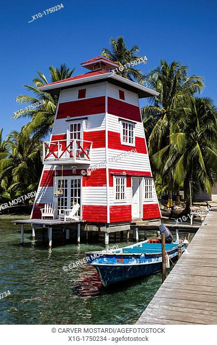 Waterfront hotel El Faro del Colibri, Isla Carenero, Bocas del Toro Archipelago, Panama