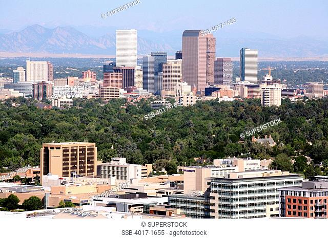 View of Denver Skyline from Cherry Creek