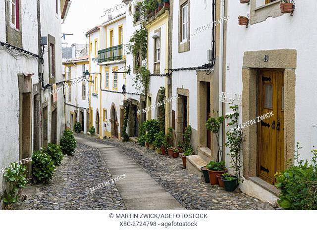 Das ehemals juedische Viertel in der Altstadt von Castelo de Vide. Europa, Suedeuropa, Portugal