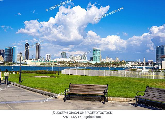 View of San Diego Harbor from Centennial Park in Coronado, California, United States