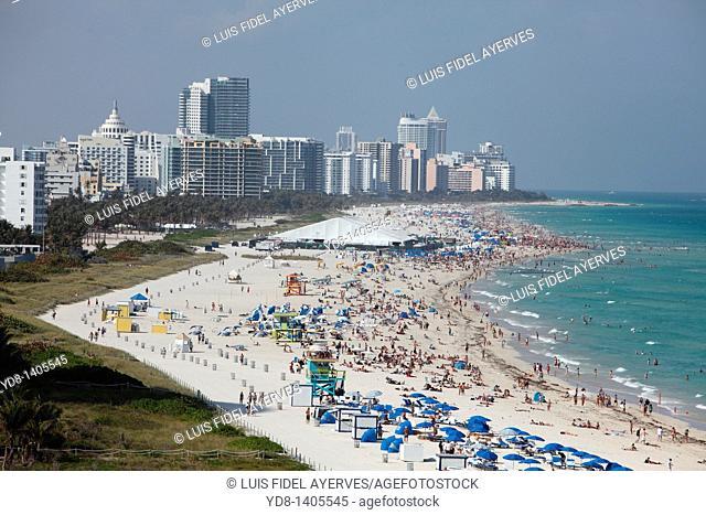 Panoramic view of Miami Beach, Florida, USA