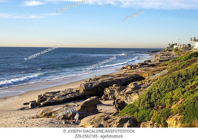Seascape, ocean, coastal. Windansea Beach, La Jolla, California, USA
