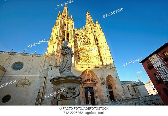 Cathedral of Saint Mary of Burgos, Saint Mary facade. Castile and Leon. Spain
