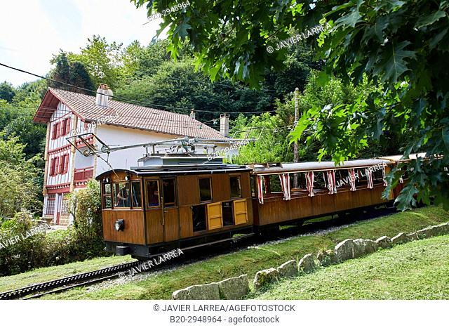 Tren de Larrune, Le Train de La Rhune, Sare, Aquitaine, Pyrenees Atlantiques, France, Europe